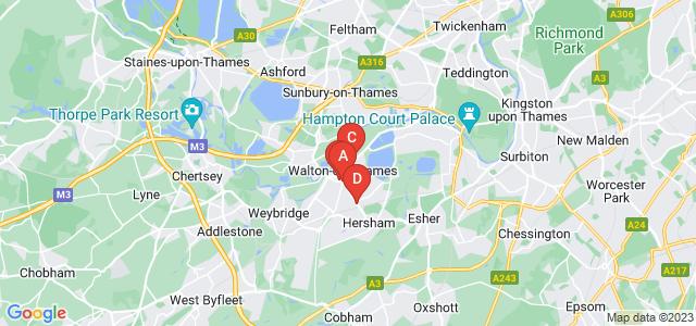 Google static map for Walton On Thames