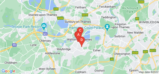 Google static map for Walton On Thames