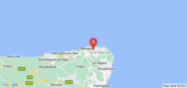 Google static map for Cliftonville