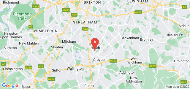 Google static map for Thornton Heath