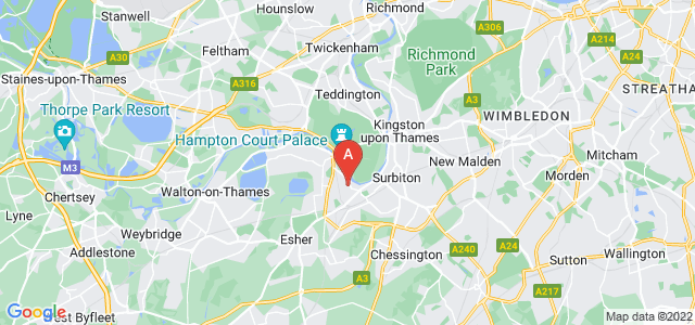 Google static map for Thames Ditton
