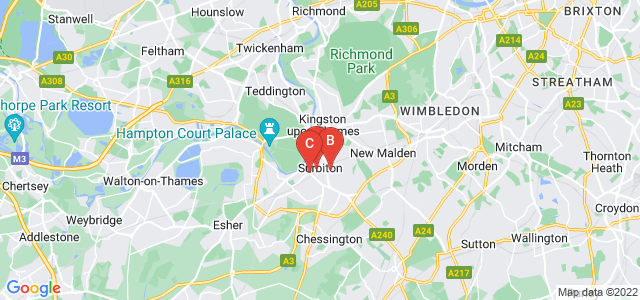 Google static map for Surbiton