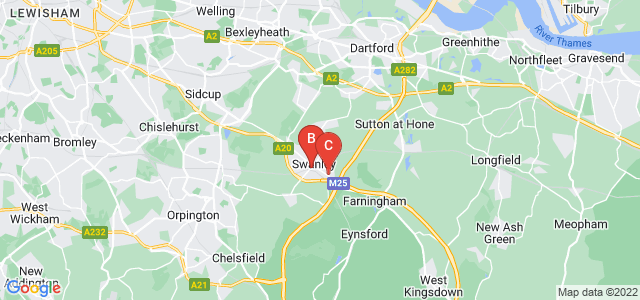 Google static map for Swanley