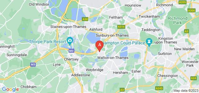 Google static map for Shepperton
