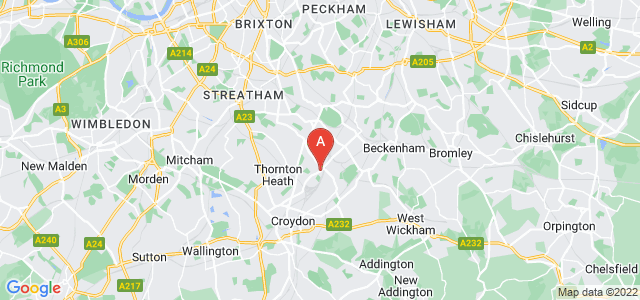 Google static map for South Norwood