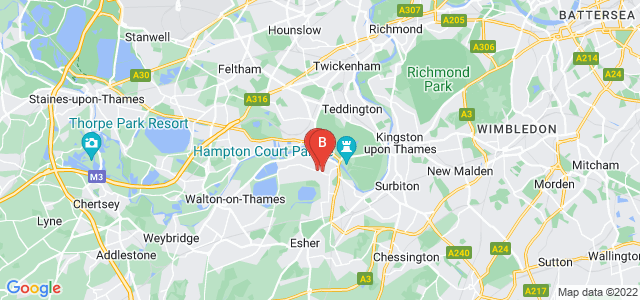 Google static map for East Molesey