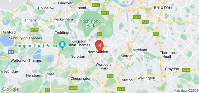 Google static map for New Malden