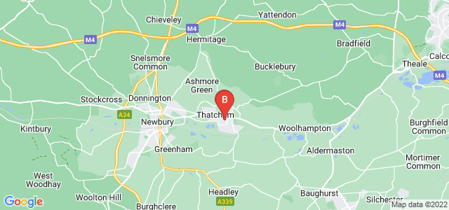 Google static map for Thatcham