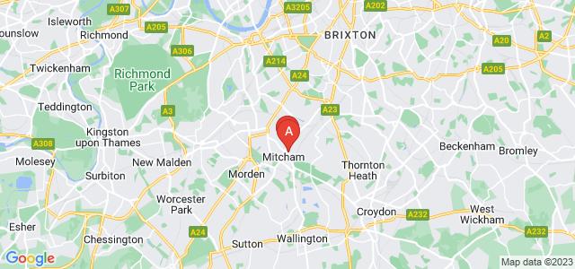 Google static map for Mitcham