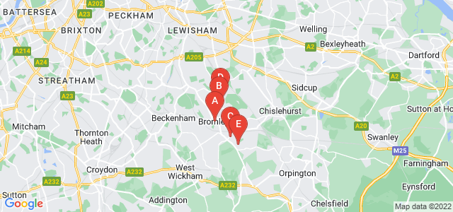 Google static map for Bromley