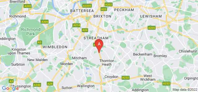 Google static map for Norbury