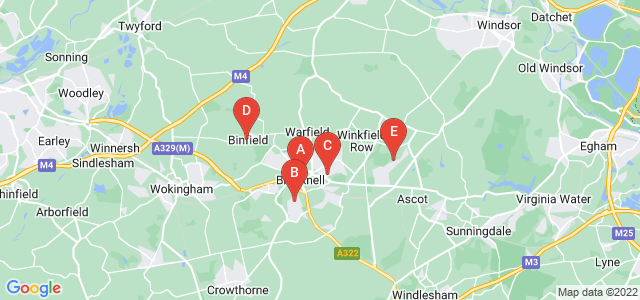 Google static map for Bracknell Forest