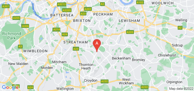 Google static map for Upper Norwood