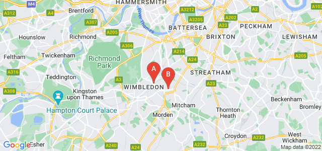 Google static map for Wimbledon