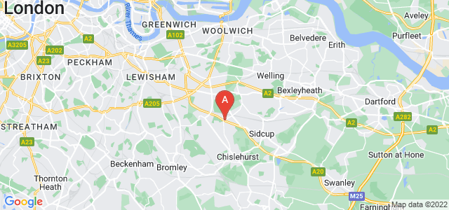 Google static map for New Eltham