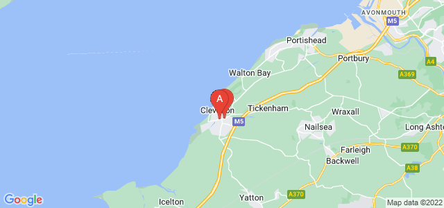 Google static map for Clevedon