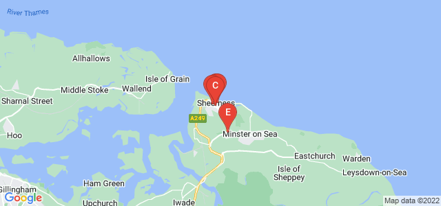 Google static map for Sheerness