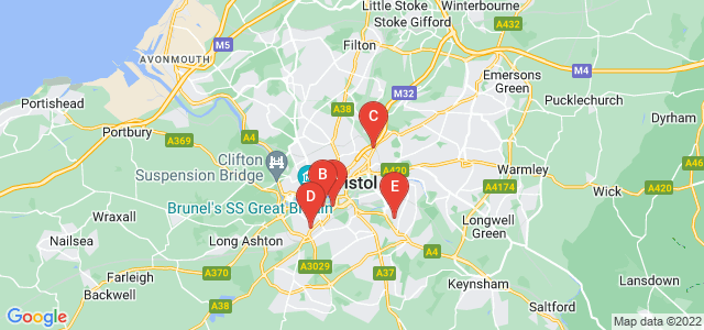Google static map for Bristol