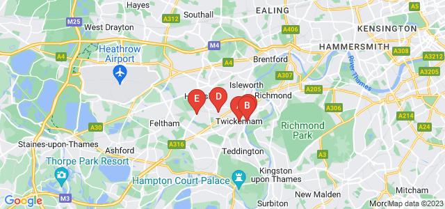 Google static map for Twickenham