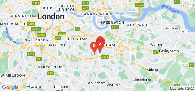 Google static map for Lewisham