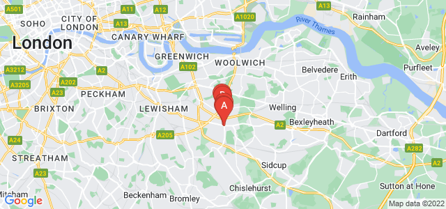 Google static map for Eltham