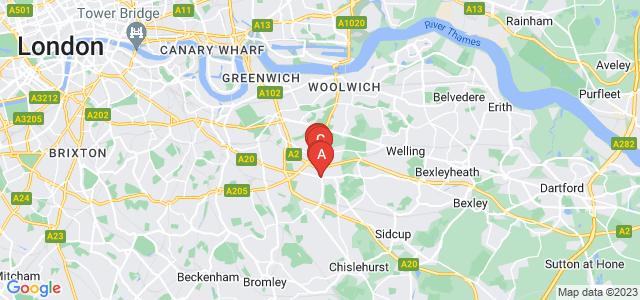 Google static map for Eltham