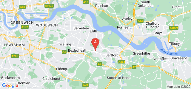 Google static map for Crayford