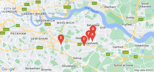 Google static map for Bexleyheath