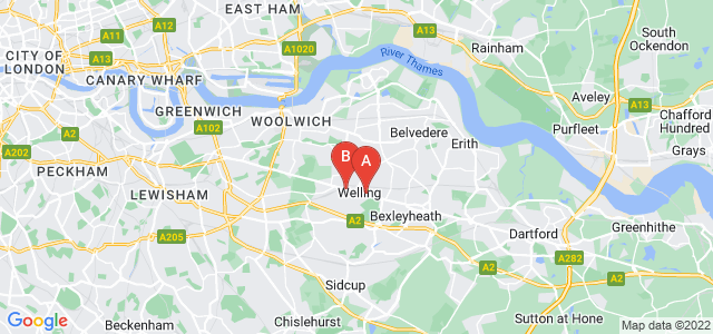 Google static map for Welling