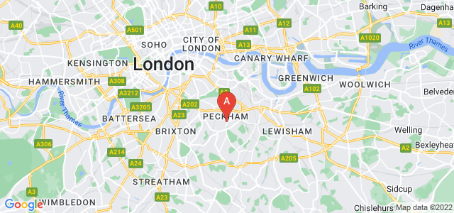 Google static map for Peckham