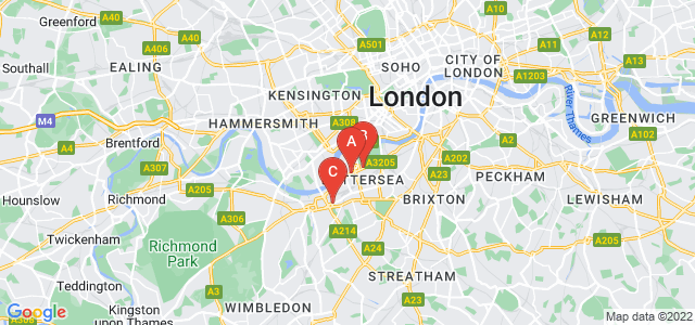Google static map for Battersea