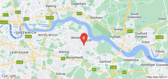 Google static map for Erith