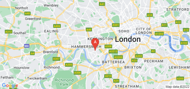 Google static map for West Brompton