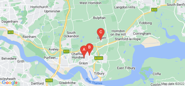 Google static map for Grays