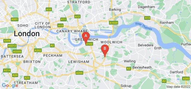Google static map for Greenwich