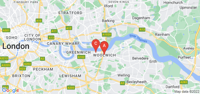 Google static map for Woolwich