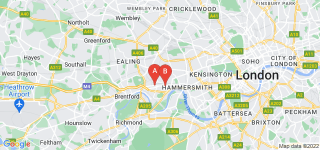 Google static map for Chiswick