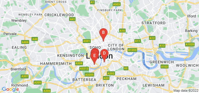 Google static map for London