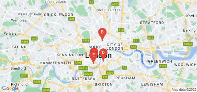 Google static map for London
