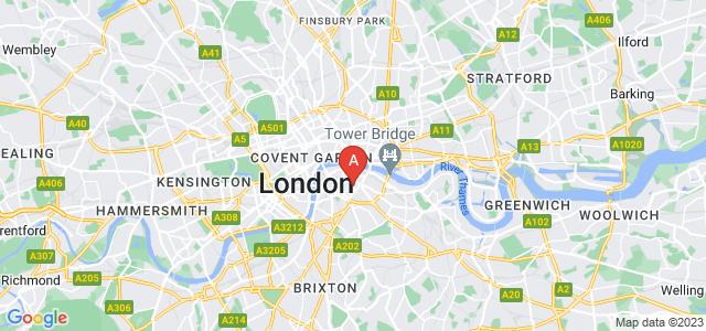 Google static map for Southwark