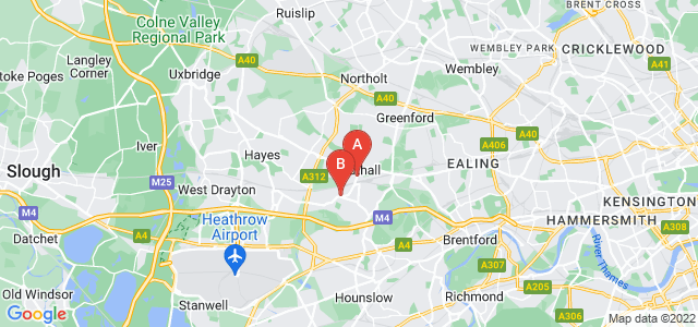 Google static map for Southall