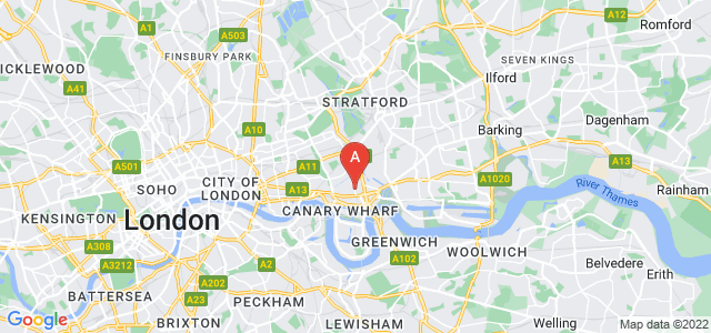 Google static map for Poplar