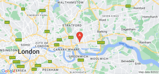 Google static map for West Ham