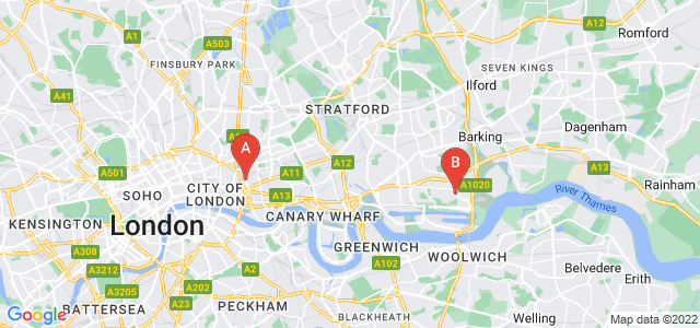 Google static map for Tower Hamlets