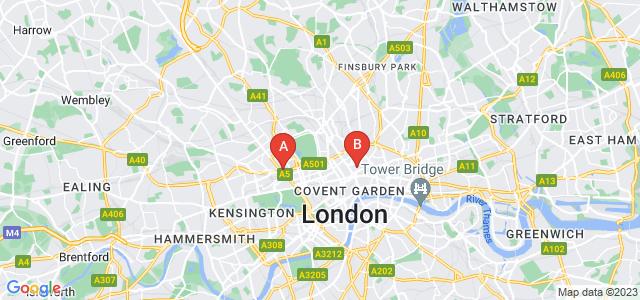Google static map for Marylebone