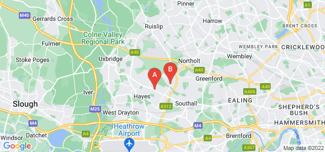 Google static map for Hayes
