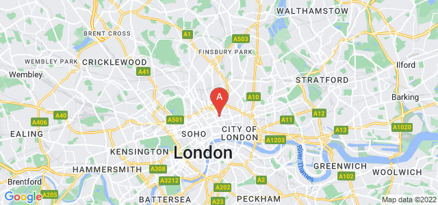 Google static map for Clerkenwell