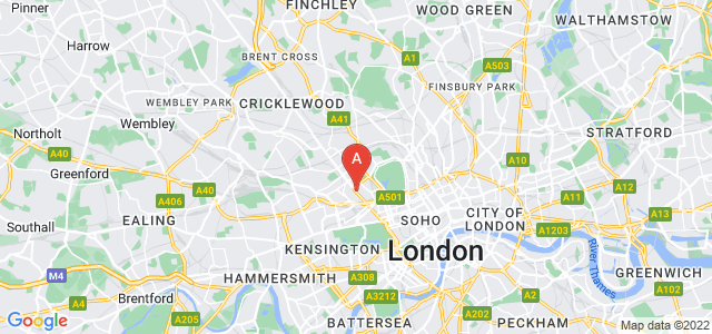 Google static map for Maida Vale
