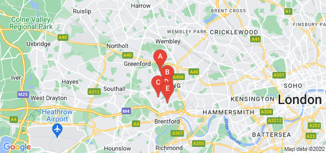 Google static map for Ealing