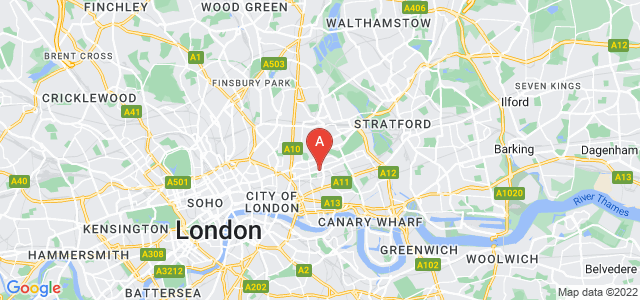 Google static map for Bethnal